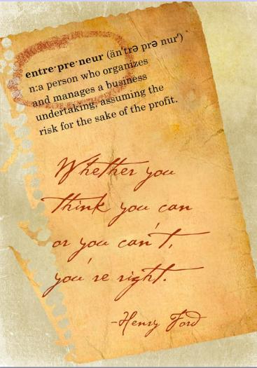 Entrepreneur Postcard